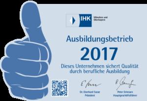 Ausbildungsbetrieb 2017 300x206 - Unternehmen